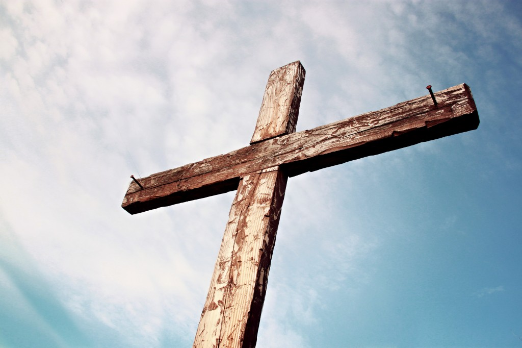 Old Rugged Cross Christian Stock Photo